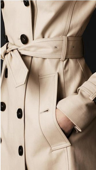 Double Breasted Coat - Belted Trench