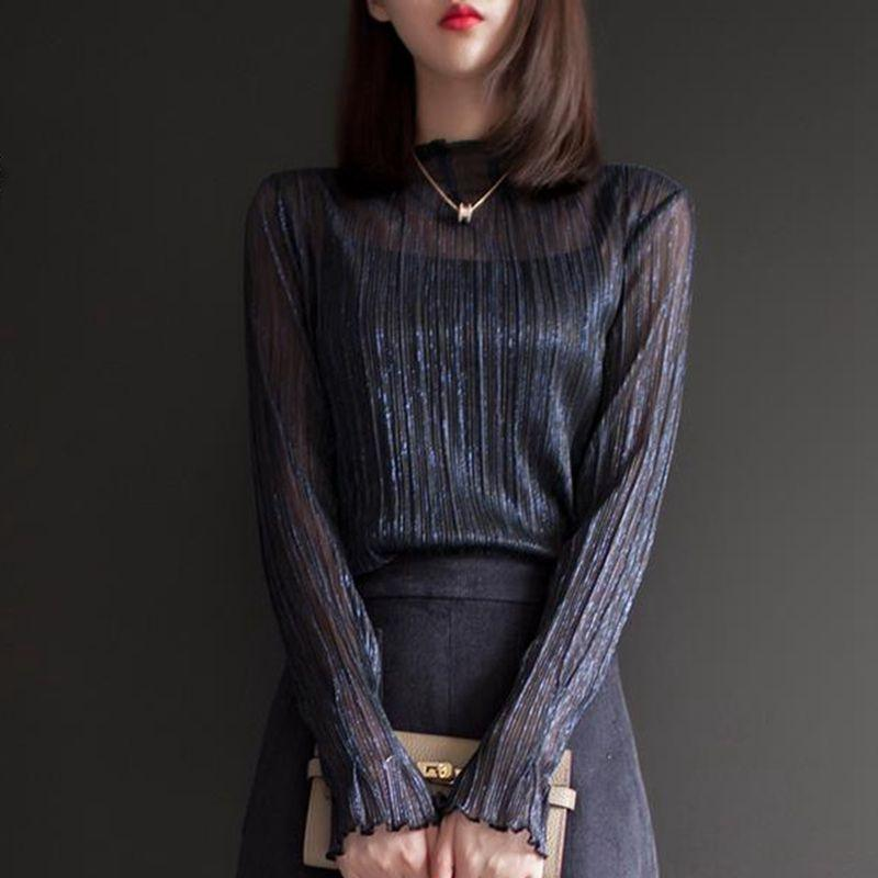 Long Sleeve Silk Top
