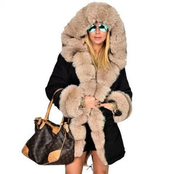 Luxe Hooded Faux Fur Coat