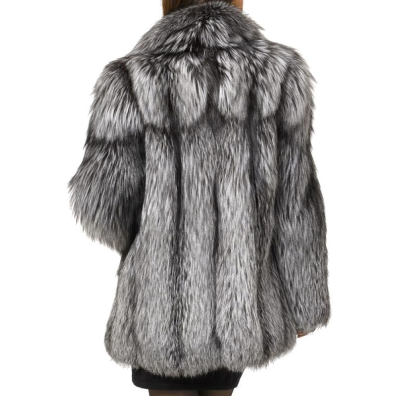 Vintage Faux Fur Coat - Winter Luxury