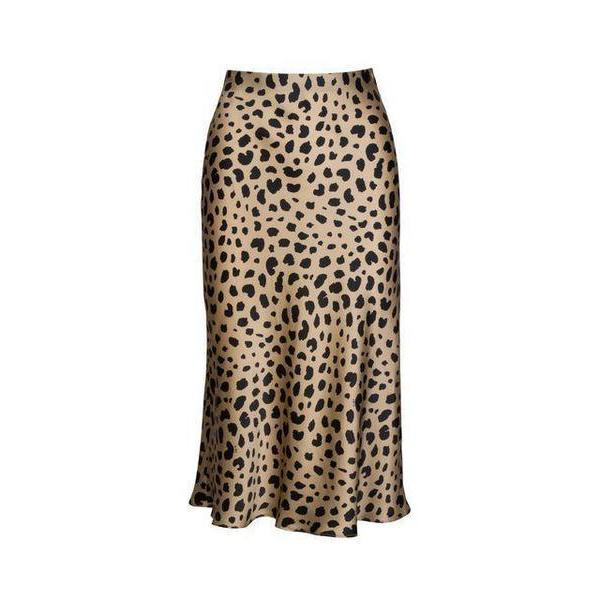 Pure Silk Leopard Print Skirt