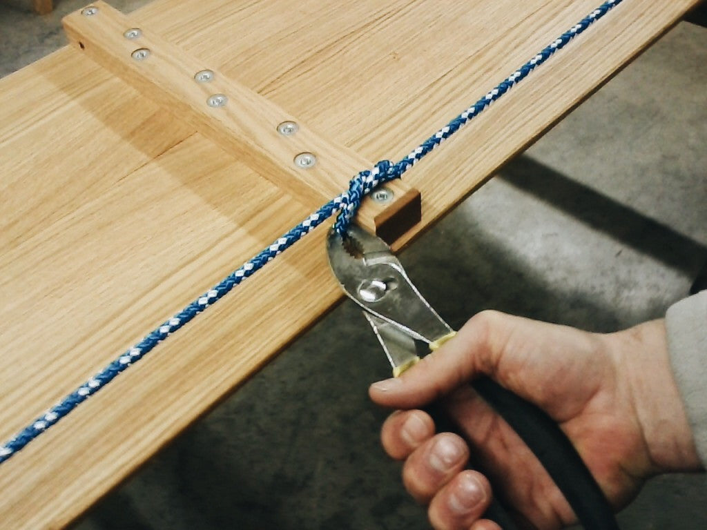 Toboggan Maintenance - Fastening your toboggan rope