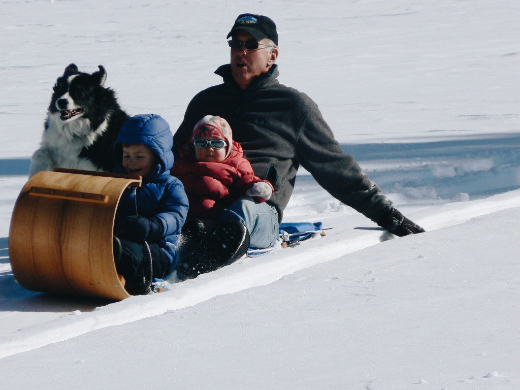 Grandpa, Grandkids, and Toboggan