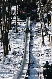 THE CAMDEN TOBOGGAN NATIONALS-- downhill toboggan track