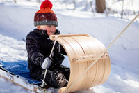 The Little Classic Wood Toboggan Sled (4ft)