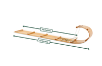 The Family Wood Toboggan Sled (8ft)