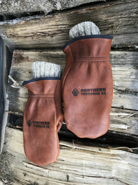 warm deer hide chopper mittens
