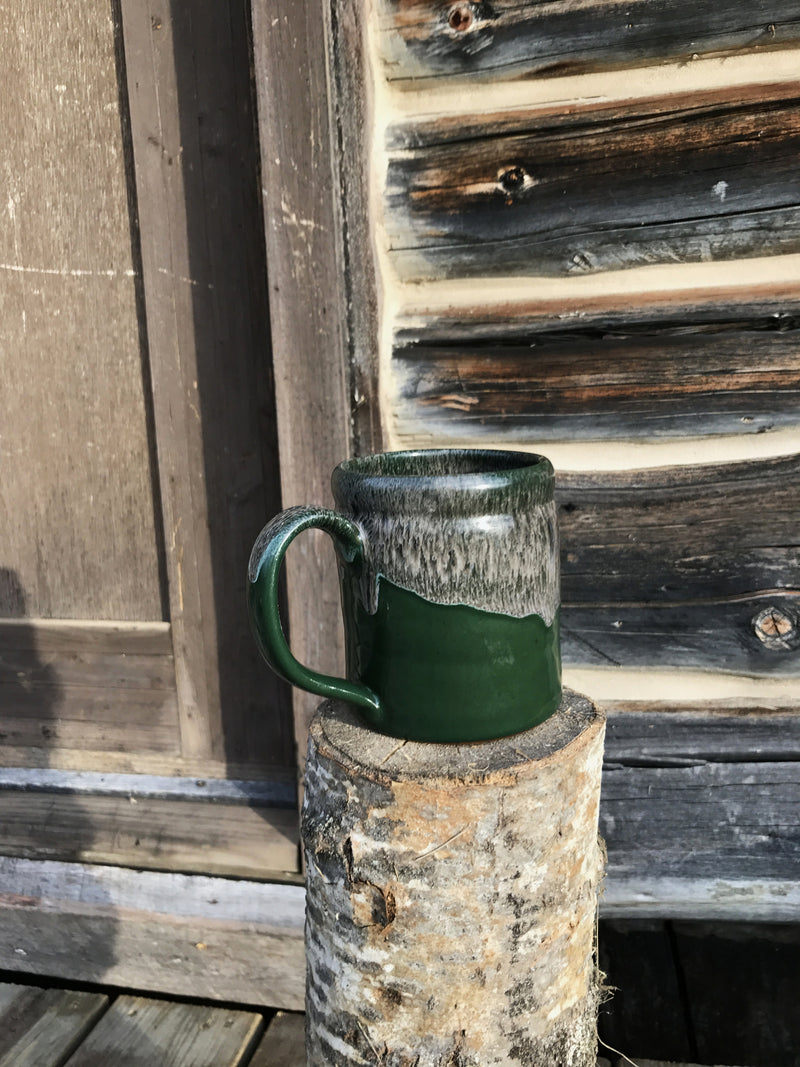 hand thrown deneen pottery coffee cup