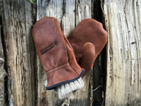 deer hide chopper mittens