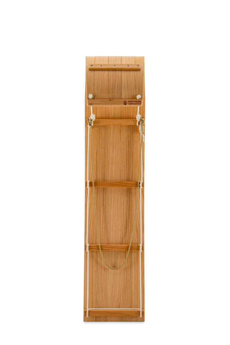 6 foot wooden toboggan for downhill sledding