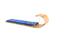 classic wooden toboggan with pad