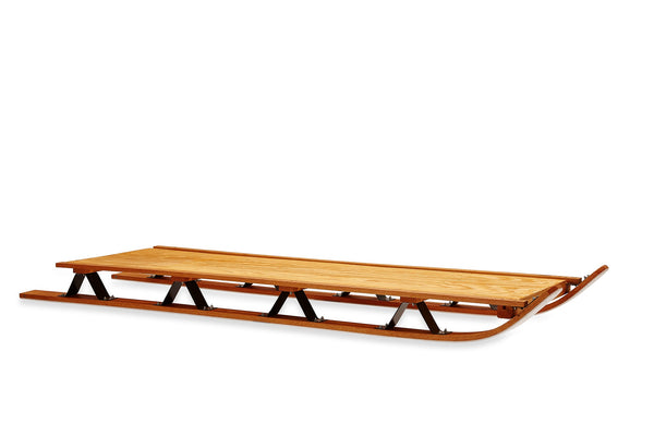 Custom wooden freight sled for hauling