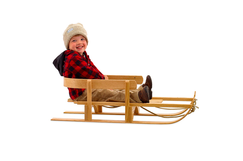 hand made children wooden sled