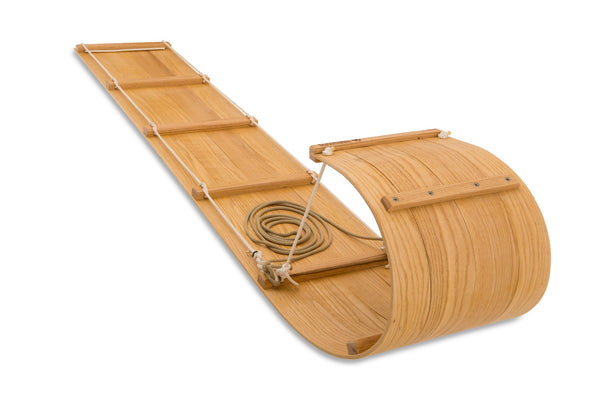 The Luxury Wood Toboggan Sled (8ft)