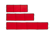 red snow toboggan pad