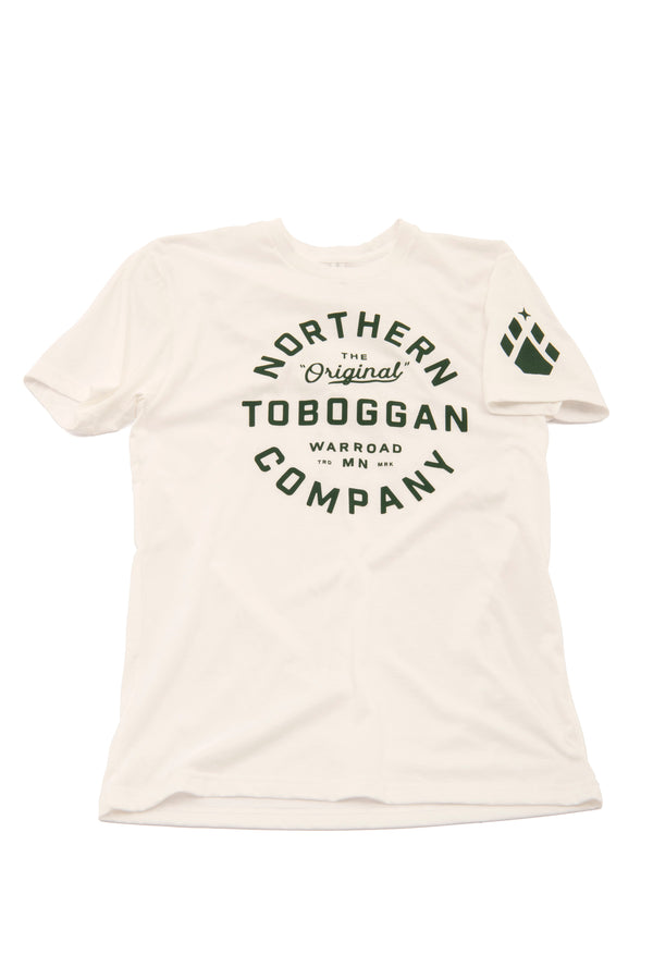 Toboggan Tee - White w/ North Star and Paw logos