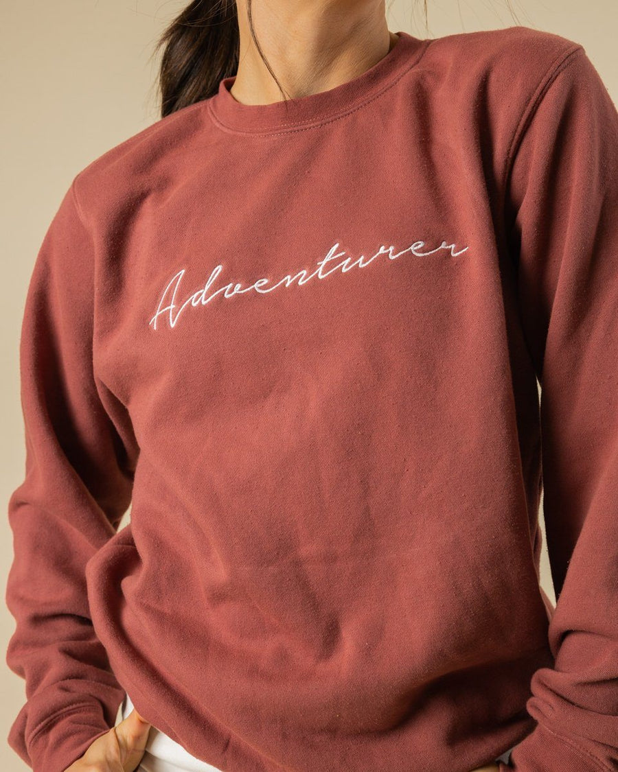 Adventurer Crewneck | Rose - Wondery