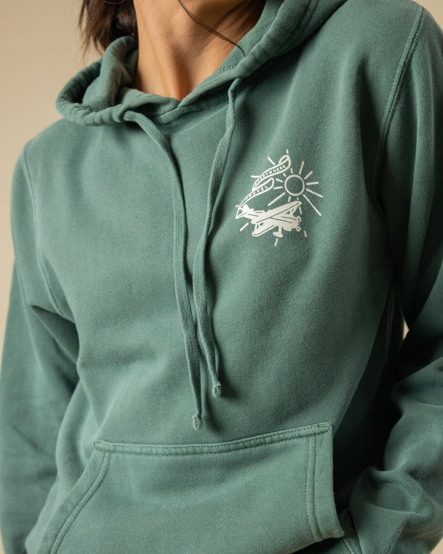 Travel Everywhere Hoodie - Wondery, A Parks Apparel Brand