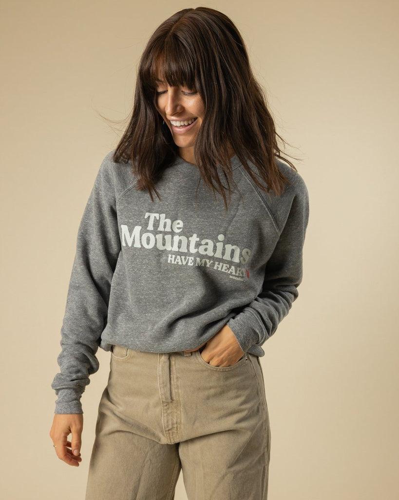 Mountains Have My Heart Crewneck - Wondery