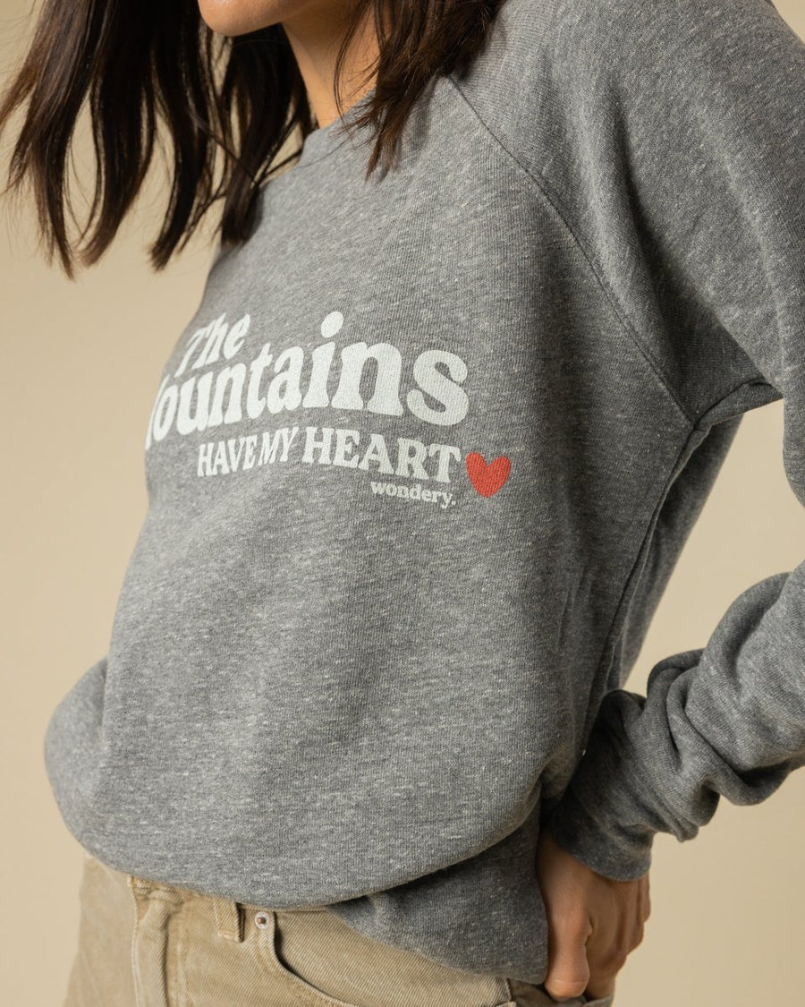 Mountains Have My Heart Crewneck - Wondery, A Parks Apparel Brand