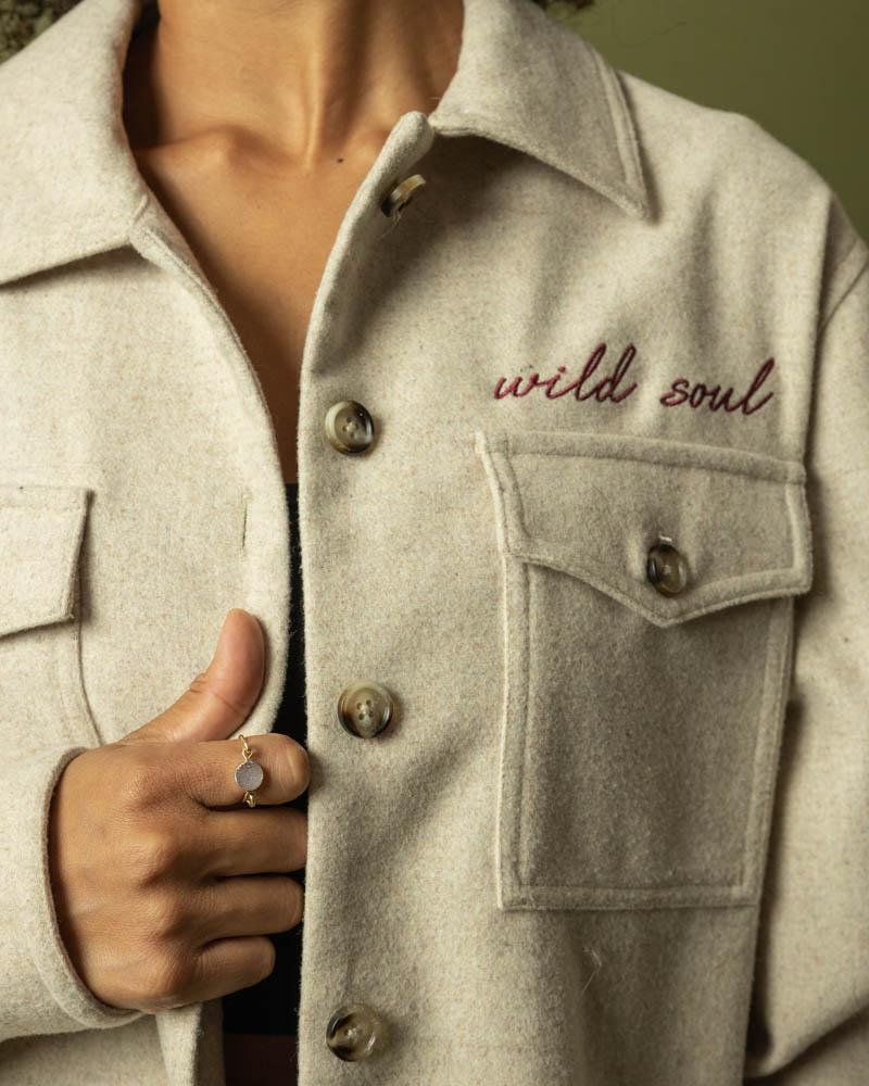 Wild Soul Embroidered Button Down - Wondery