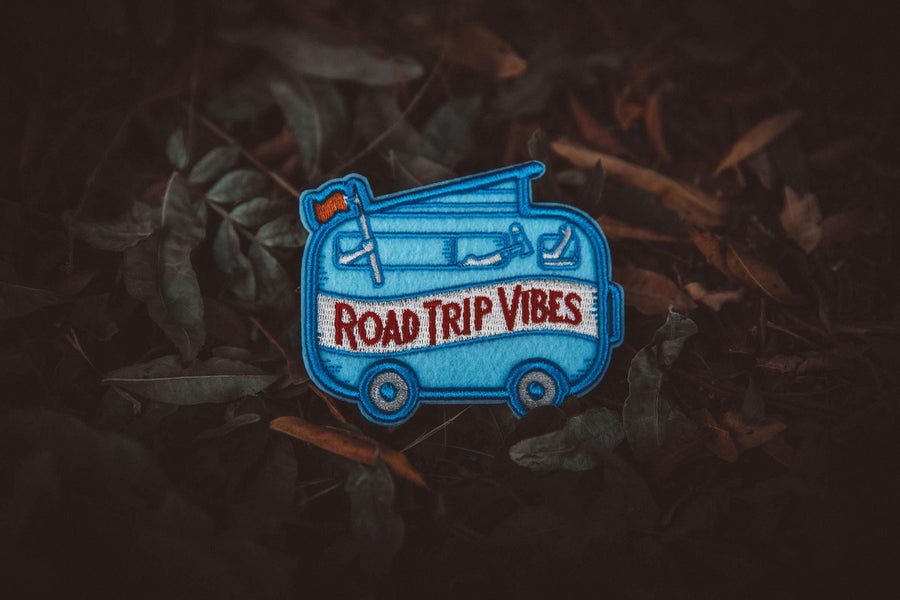 Road Trip Vibes Felt Puff Sticky Patch - Wondery, A Parks Apparel Brand