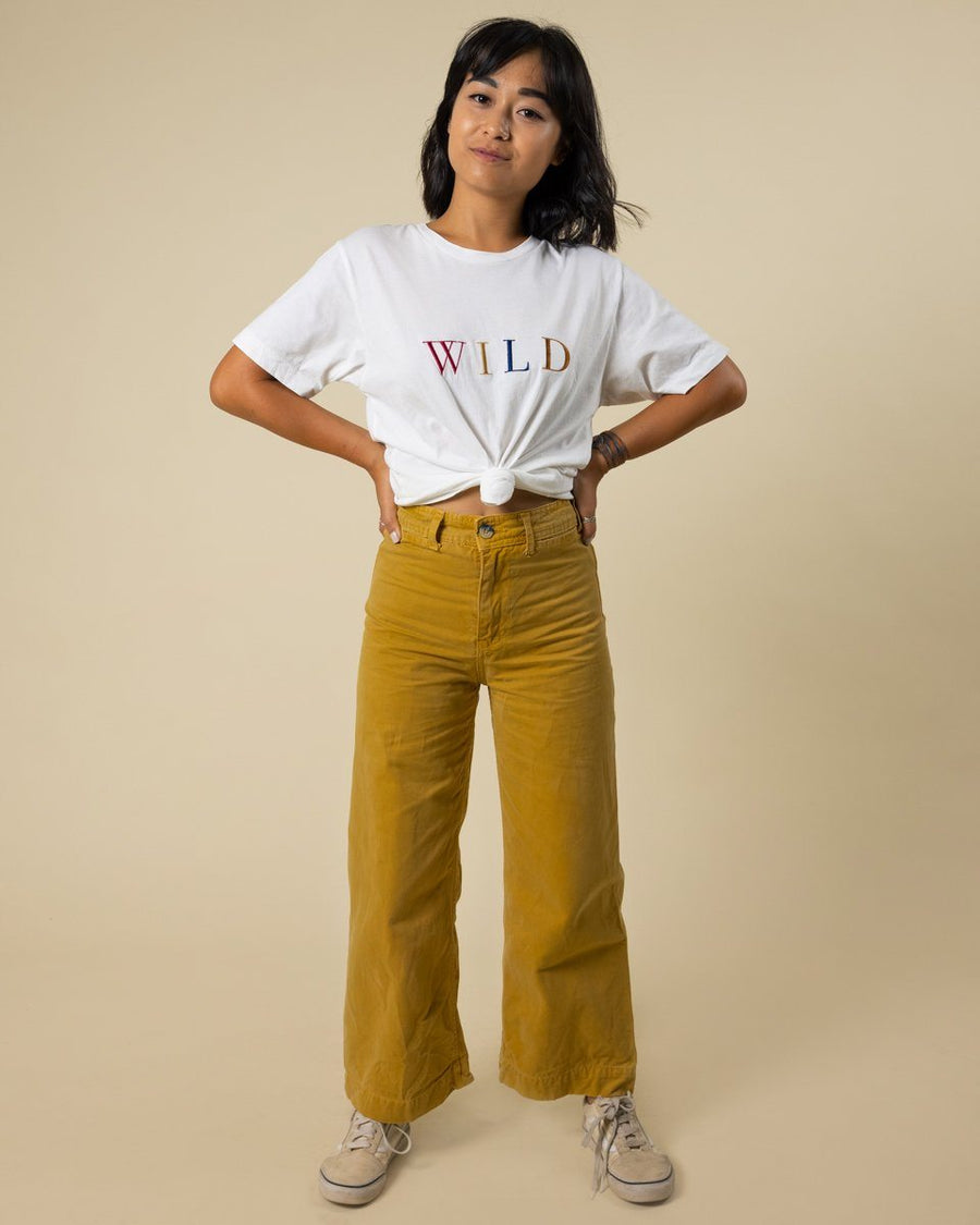 WILD Embroidered Tee - Wondery