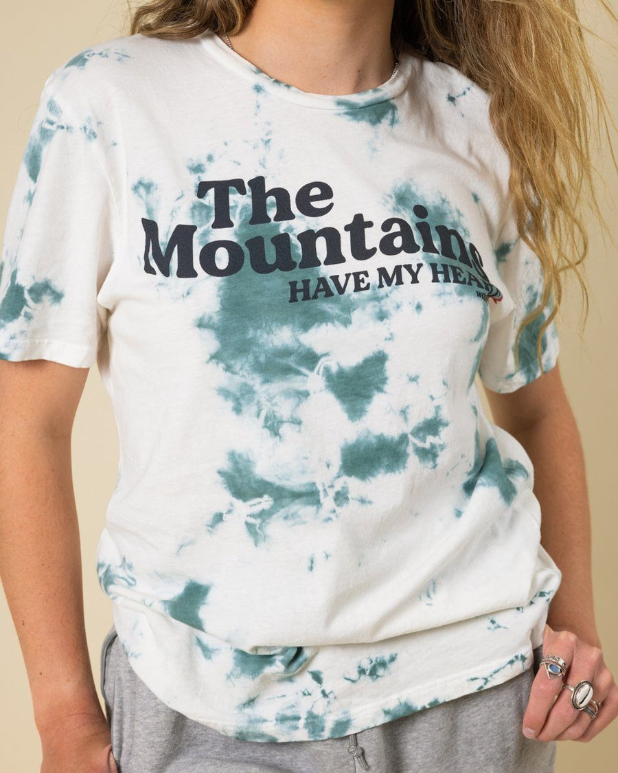 Mountains Have My Heart Tie Dye Tee - Wondery, A Parks Apparel Brand