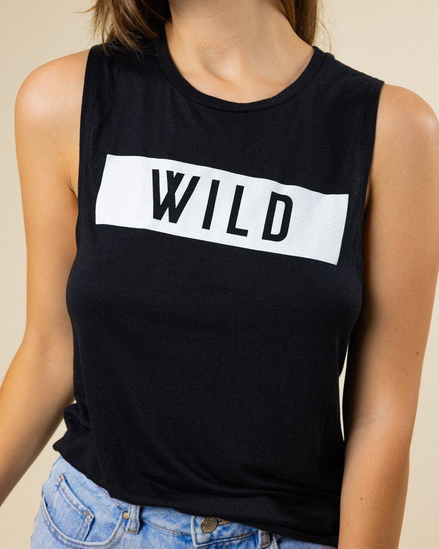 WILD Muscle Tank - Black - Wondery, A Parks Apparel Brand