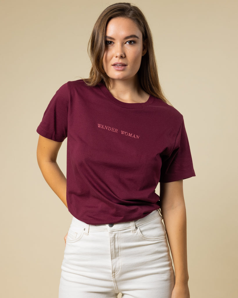 Wander Woman Embroidered Tee - Wondery