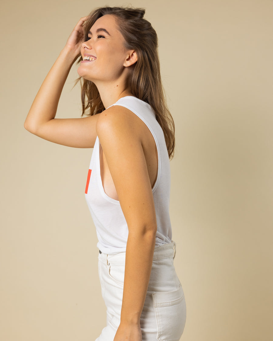 WILD Muscle Tank - White - Wondery, A Parks Apparel Brand
