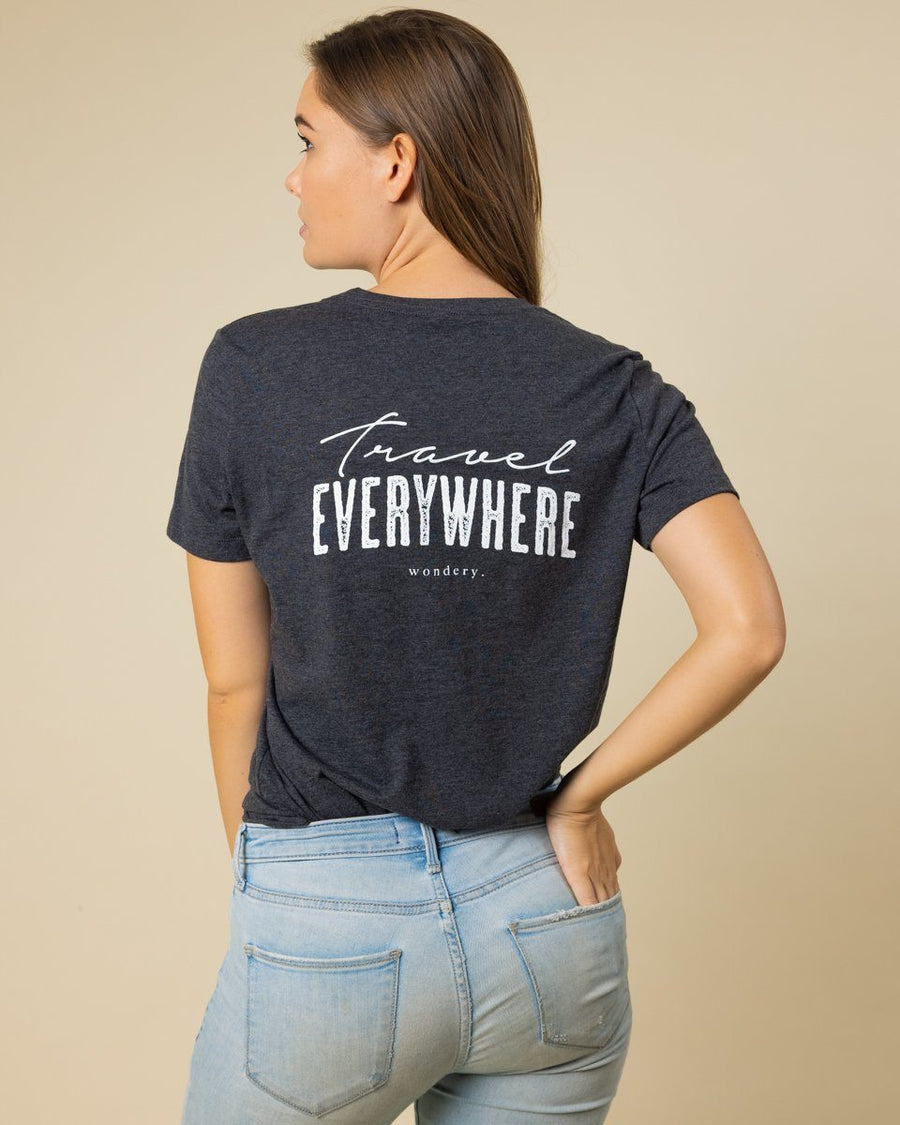 Travel Everywhere Short Tee - Wondery, A Parks Apparel Brand