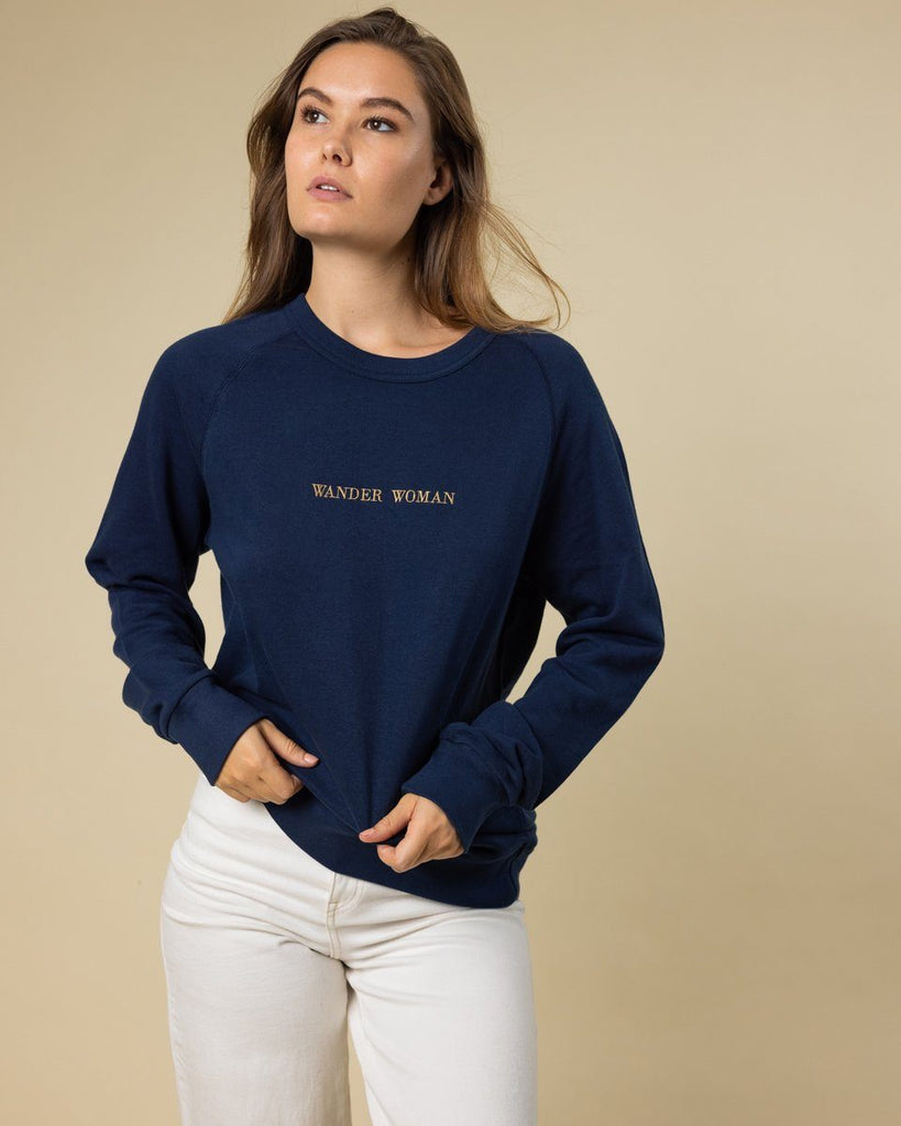 Wander Woman Embroidered Crewneck - Wondery