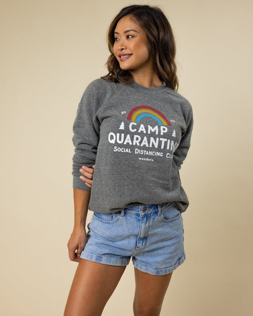 Camp Quarantine Fleece Raglan - Wondery