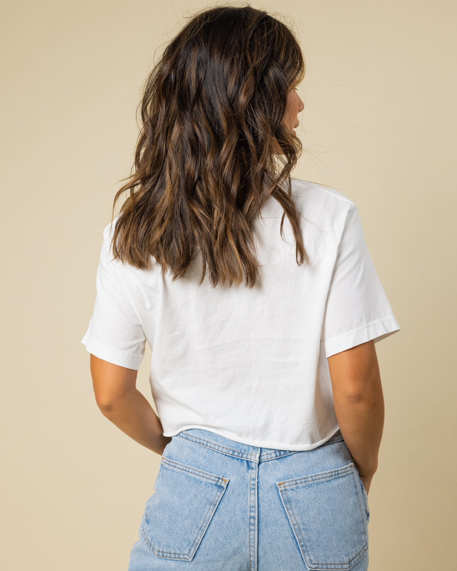 Wild Flower Embroidered Cropped Tee - Wondery, A Parks Apparel Brand