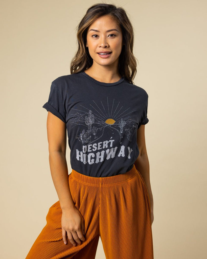 Desert Highway Distressed Tee - Wondery