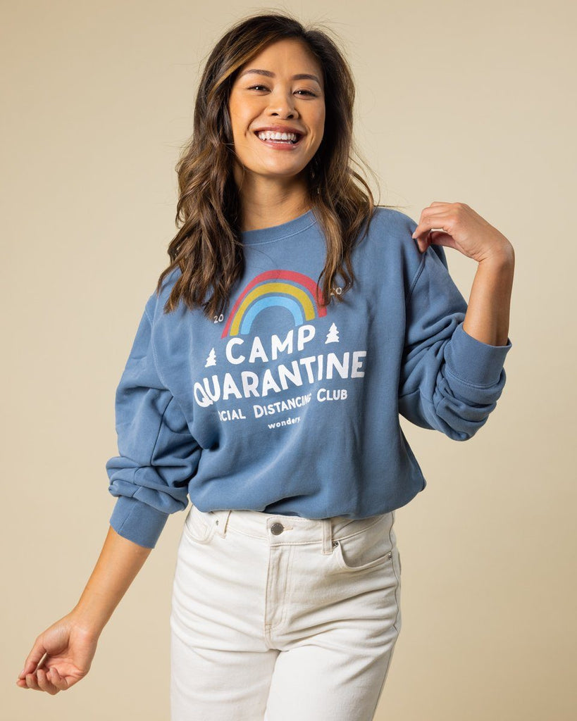 Limited Edition Camp Quarantine Vintage Sky Crewneck - Wondery