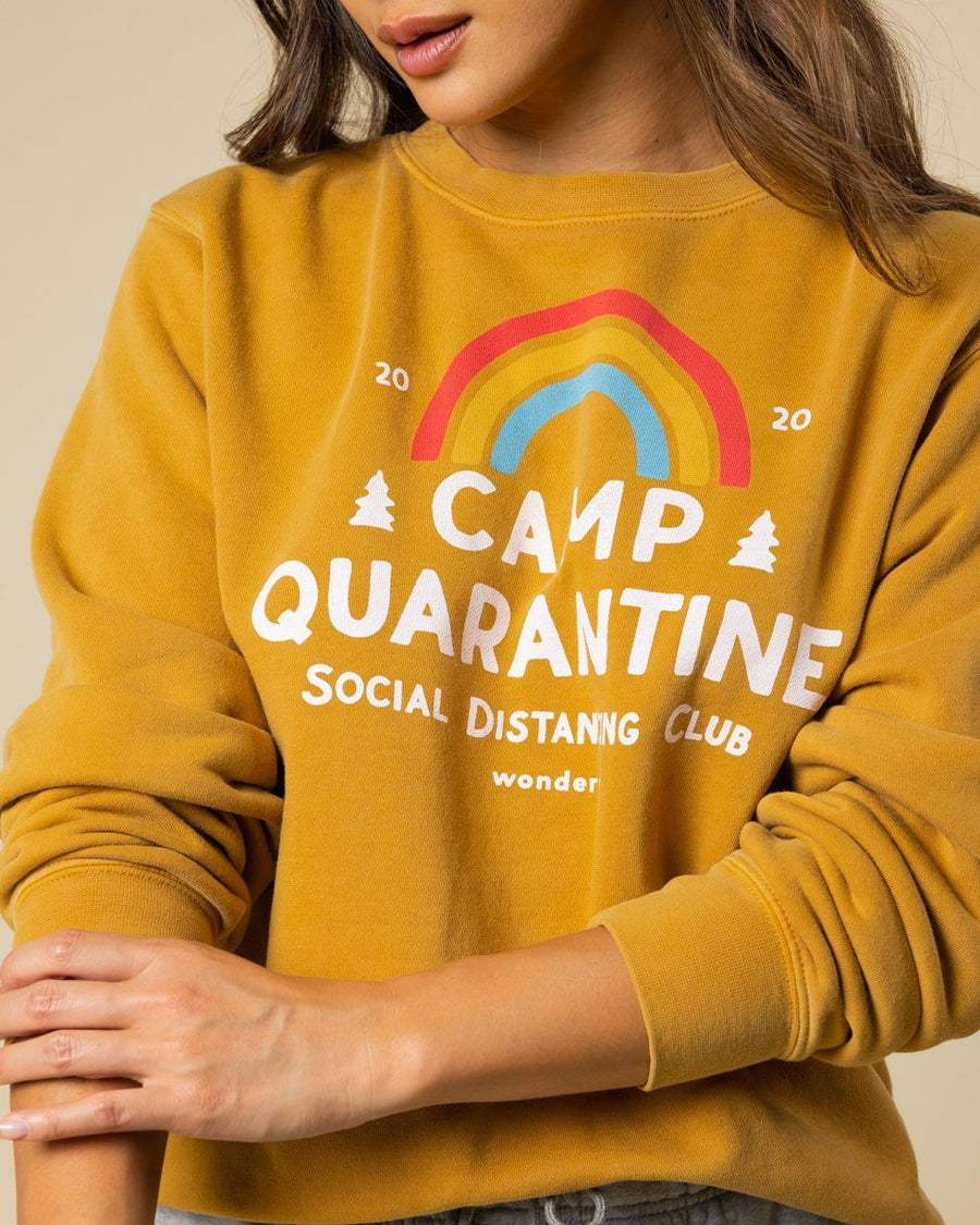 Limited Edition Camp Quarantine Vintage Honey Crewneck - Wondery, A Parks Apparel Brand