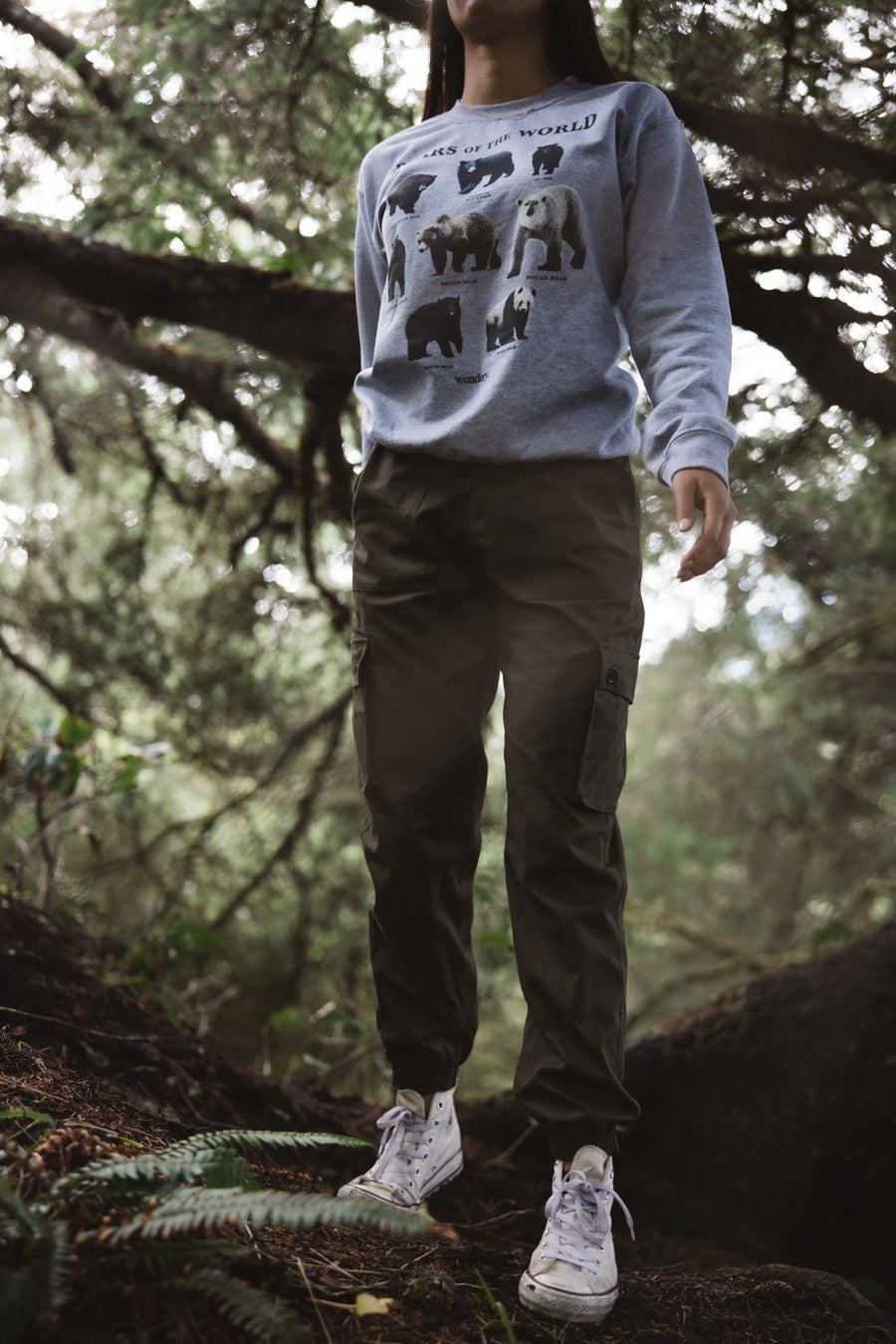 Bears of the World Crewneck - Wondery, A Parks Apparel Brand