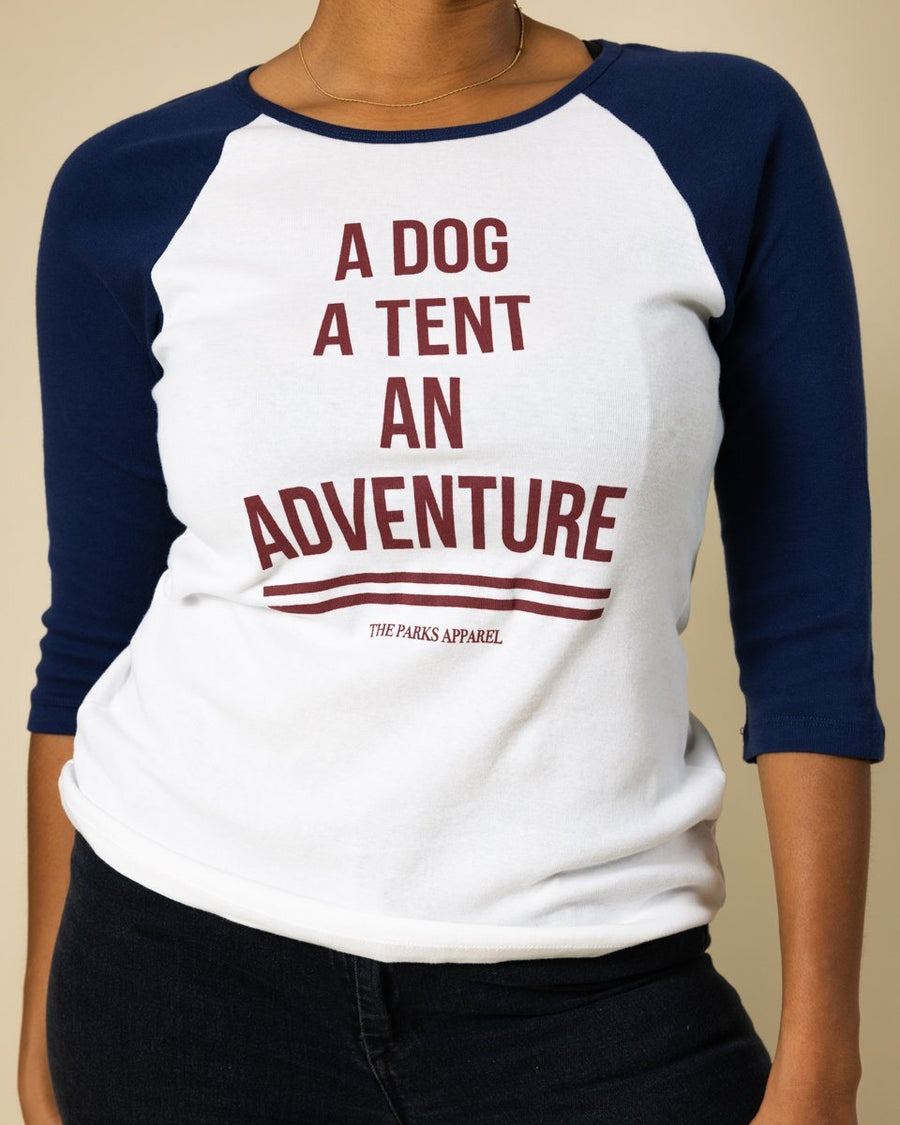 Dog Adventure Raglan - Wondery, A Parks Apparel Brand