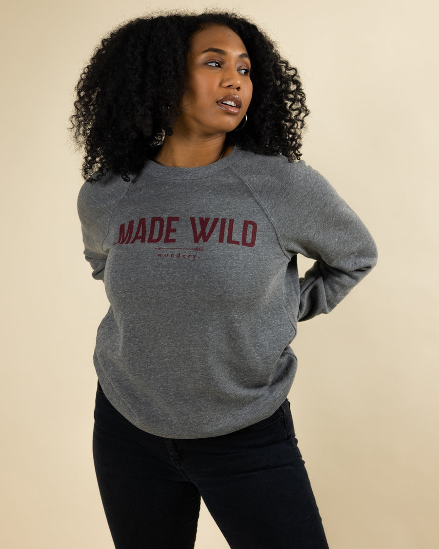 Made Wild Sponge Fleece Raglan Sweatshirt - Wondery, A Parks Apparel Brand