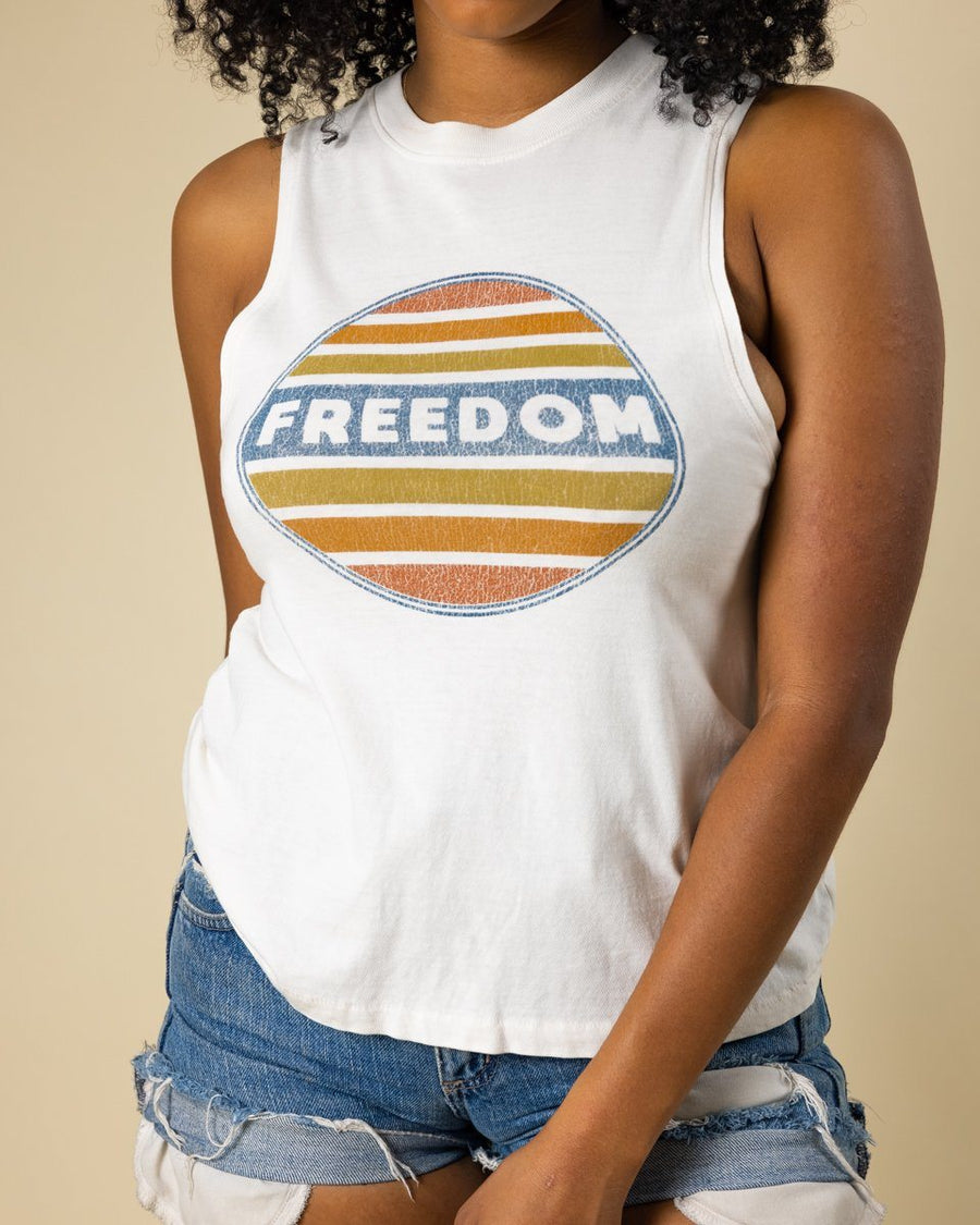 Freedom Jersey Muscle Tank - Wondery, A Parks Apparel Brand