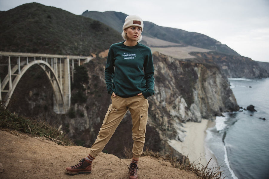 The Journey Embroidered Crewneck