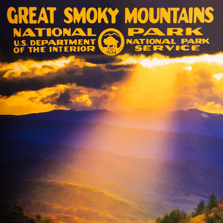 Retro Great Smoky Mountains NP Poster - Wondery, A Parks Apparel Brand
