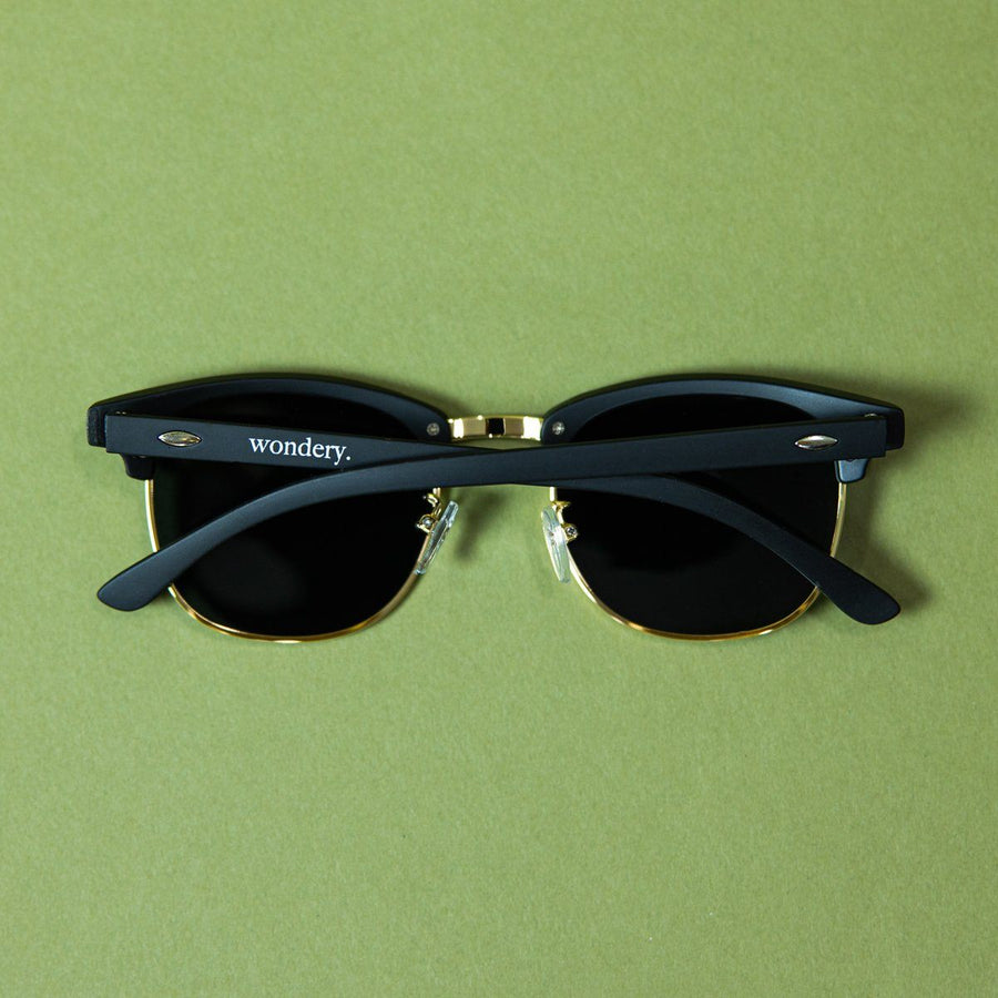 Wondery Matte Sunglasses in Iron - Wondery, A Parks Apparel Brand
