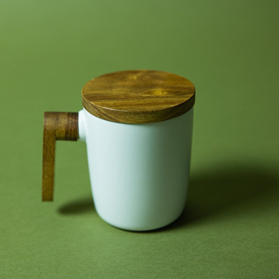 New Wood Matte Mug - White