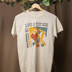 Powered by Sun & Love Tee | Cream