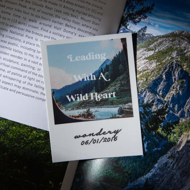 Leading with a Wild Heart Sticker 1
