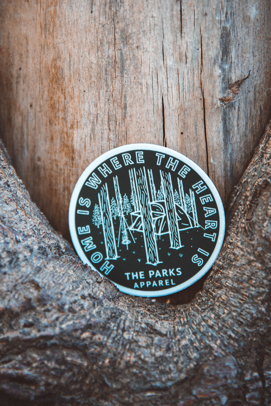 Home Is Where The Heart Is Sticker - Wondery, A Parks Apparel Brand