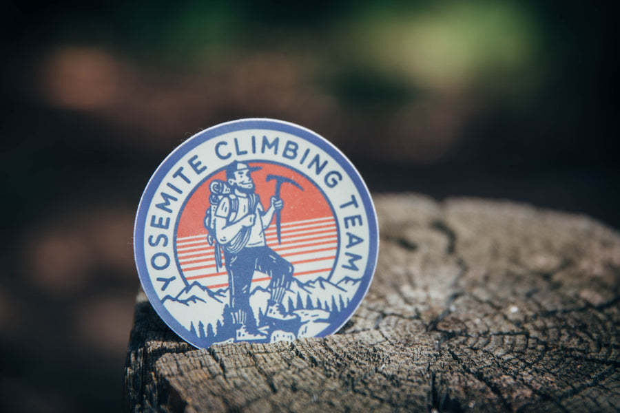 Yosemite Climbing Team Sticker - Wondery, A Parks Apparel Brand